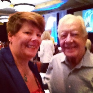 selfie with former President Carter