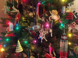 My Christmas tree combines homemade & travel memories