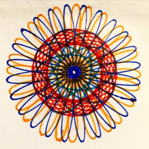 The first of many Spirograph drawings!
