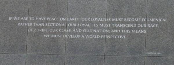 peace on Earth MLK
