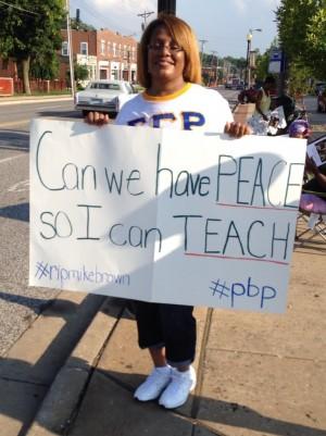 A teacher in Ferguson, MO