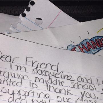 letters from Ferguson slider