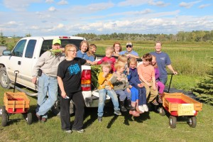 The Wilsons & friends pick sweet corn for their local foodbank