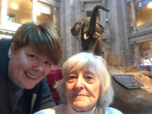 Smithsonian selfie with mom