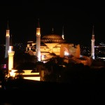 Hagia Sophia at night