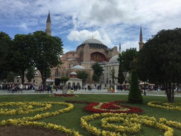 Hagia Sophia with gardens