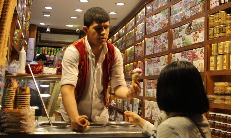 buying an ice cream cone