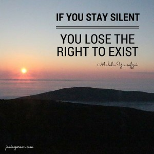 if you stay silent, you lose the right to exist