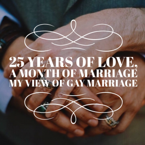 gay marriage after 25 years of love
