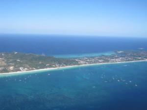 boracay beaches from the air