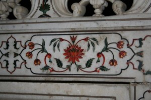 marble inlay at the Taj Mahal