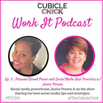TheCubicleChick's Work It podcast with JPlovesCOTTON