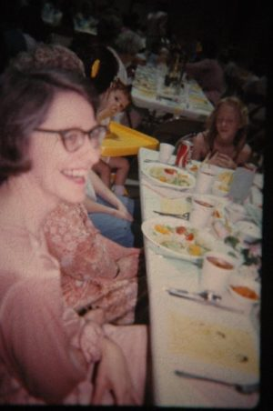 Mom at a luncheon