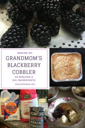 grandmom's blackberry cobbler