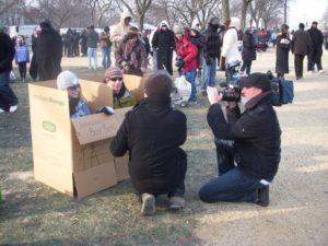 boxed seats at the inauguration