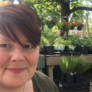 selfie at the plant nursery