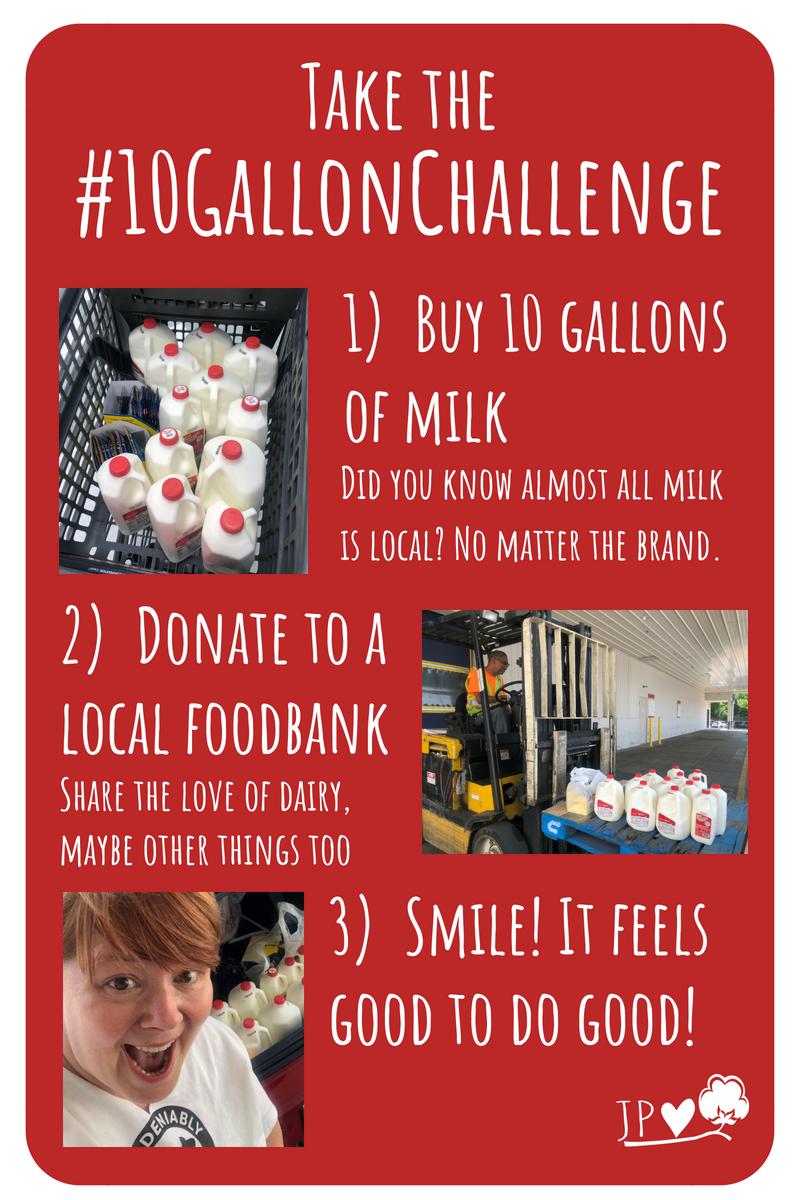 Great way to help the community! #10gallonchallenge #hungerrelief