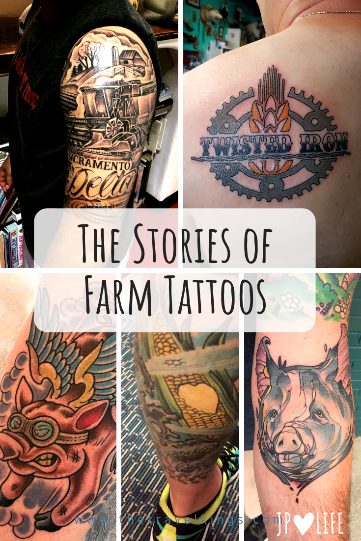 Love seeing some of the farm tattoos & seeing the stories behind them. #inked