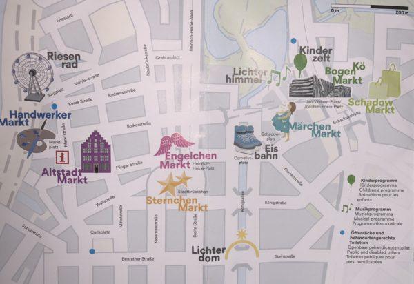 Dusseldorf Christmas market maps